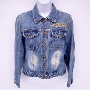 Armani Exchange Denim Jean Jacket Size XS